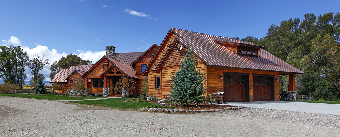 Timber Frame home panorama