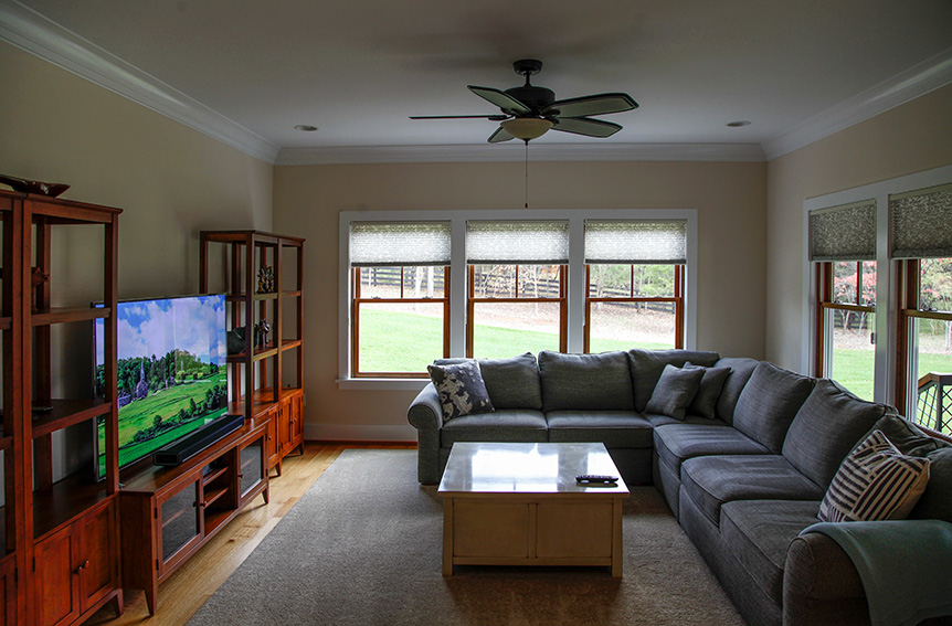 TV room with comfortable furniture