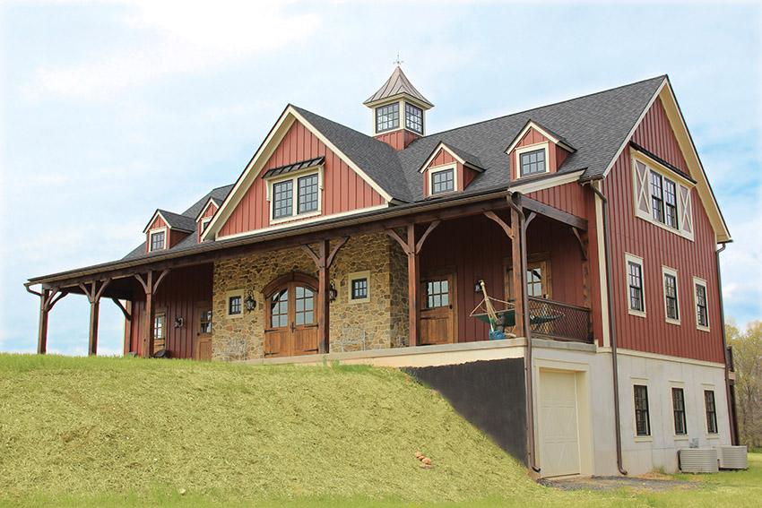 Bank barn style home