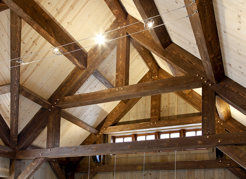 A-frame wood beams