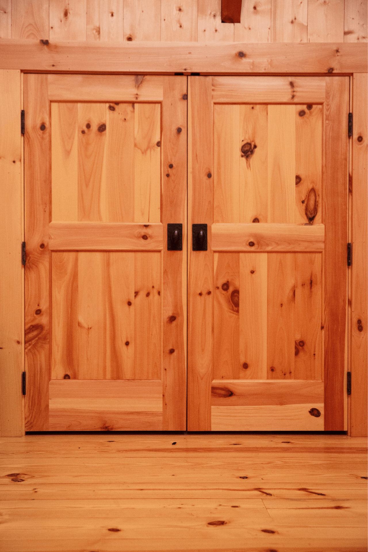 Knotty Pine Door
